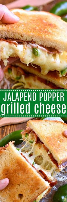 This Jalapeño Popper Grilled Cheese is EVERYTHING!! Gooey, spicy, cheesy, and SO delicious. If you love jalapeño poppers you'll go crazy for this awesome sandwich! #crystalfarmscheese #cheeselove #ad