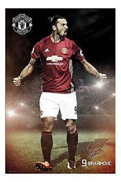 Zlatan Ibrahimovic Manchester United 2016 / 2017 Poster Gloss Laminated - 91.5 x 61cms (36 x 24 Inches)