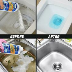 Get your drainage clear and sinks clean all at once with this multipurpose cleaner. Our Ultimate Sink & Drainage Cleaner is a unique, safe, but extremely power Deep Cleaning Tips, House Cleaning Tips, Cleaning Solutions, Bathroom Cleaning Tips, Apartment Cleaning, Cleaning Wood, Deodorant, Sink Drain Cleaner, Unclog Bathtub Drain