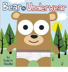 Bestselling pop artist Goldman presents a zany story about a bear, a backpack filled with underwear, and a group of furry friends who cheer him on. The cover features printed fabric tighty-whities. Full color.