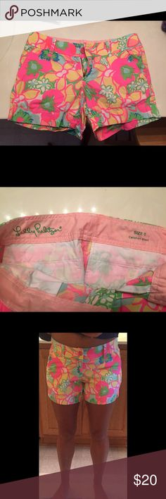 Lily Pulitzer Callahan shorts Great condition!!!! Just cleaning out my closet Lilly Pulitzer Shorts
