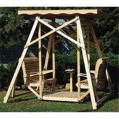 Canopy Glider Swing Woodworking Plan