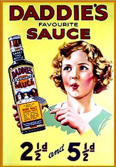 Vintage Advert = Daddie's Sauce