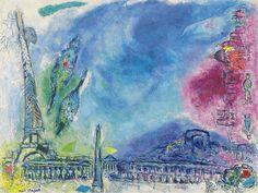 Marc Chagall - Paysage de Paris (1968)