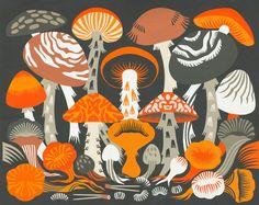 Petra Börner, Artist, represented by Hugo & Marie Green Knight, Mushroom Art, Guache, Paper Artwork, National Portrait Gallery, Design Museum, Crate And Barrel, Art Inspo, Art Reference
