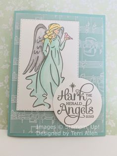 Image C, Stampin Up, Christmas Cards, Singing, Angels, Peace, Design, Art, Christmas E Cards