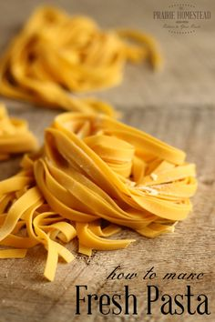 How To Make Fresh Pasta (1) From: The Prairie Homestead, please visit