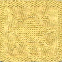 Sun Knit Dishcloth