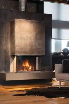 The BRUNNER panorama fireplace as a warmth architectural hig.- The BRUNNER panorama fireplace as a warmth architectural highlight in the living room. D … The BRUNNER panorama fireplace as a warmth architectural highlight in the living room. Home Fireplace, Modern Fireplace, Living Room With Fireplace, Fireplace Ideas, Fireplaces, Living Rooms, Luxury Interior, Decor Interior Design, Interior Decorating