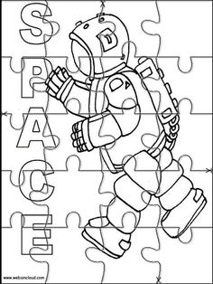 Printable Jigsaw Puzzles To Cut Out For Kids Space 5 Coloring Pages