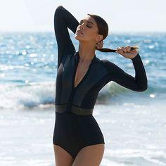 Surf's up! Strong, streamlined silhouettes and modern high-tech fabrics define this season's best sporting swimwear. #NETASPORTER