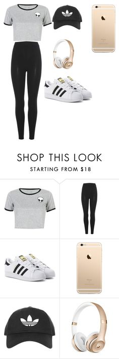 """""""hang out?"""" by alayjablackmon on Polyvore featuring WithChic, adidas Originals and Topshop"""