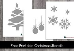 Free Printable Christmas Stencils Wooden Christmas Ornaments, Christmas Banners, Diy Christmas Cards, Christmas Crafts, Christmas Ideas, Christmas Decorations, Free Stencils, Free Printable Stencils, Free Christmas Printables