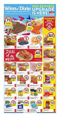 Winn Dixie Weekly Ad April 19 - 25, 2017 - http://www.olcatalog.com/grocery/winn-dixie-weekly-ad.html
