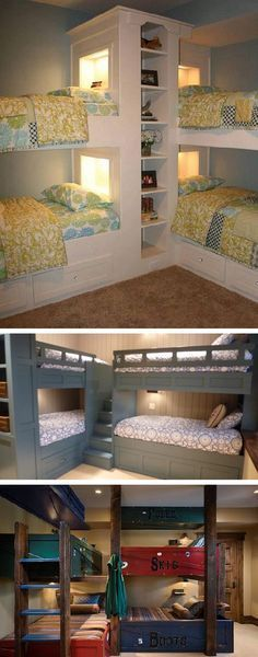 Seems like these corner bunk beds would ensure more privacy, and maybe more storage than regular bunk beds. | Tiny Homes
