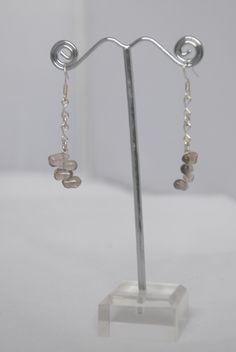Sterling silver smoky quartz drip drop inspired earrings
