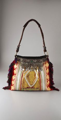 Jadetribe Handbag View 2 NB Great idea for my old belly dance necklaces!