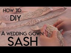 How To Make Your Own DIY Bridal Sash Belt, Applique, Ribbon Sash, Accessories We all love and it can really help expand the offerings of your business. Diy Wedding Belt, Wedding Dress Sash, Wedding Ideas, Diy Belts, Sash Belts, Diy Ribbon Belt, Diy Belt For Dresses, Dress Belts, Bridal Sash Belt