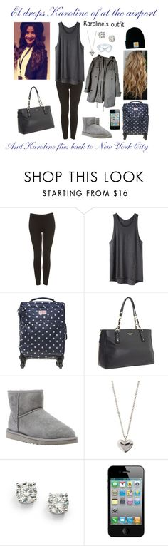 """El drops Karoline of at the airport"" by karolinebhn ❤ liked on Polyvore featuring Topshop, Zara, 3.1 Phillip Lim, Cath Kidston, Kate Spade, UGG Australia, Carhartt, Tiffany & Co., Dinny Hall and Saks Fifth Avenue"