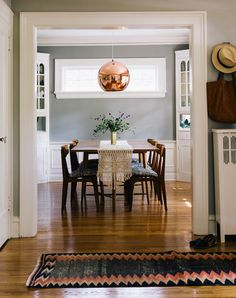 love that runner rug! // A Century-Old Home in New Jersey. - Home Decors Tom Dixon, Country Interior, Kitchen Interior, New Jersey, Rooms Ideas, Up House, Dining Room Inspiration, Inspired Homes, Interiores Design