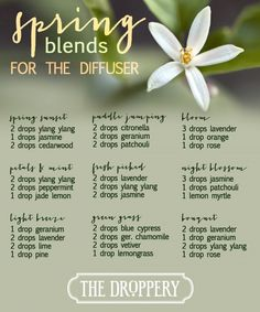 Spring will be here soon- diffuser blends