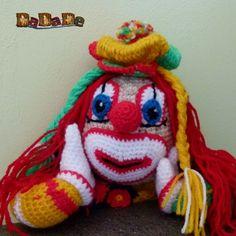 Clown-Mädchen Bimbolina, Kuschelpuppe