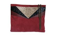 Sac ANNA Bordeaux & or Chouette Fille www.chouettefille-shop.com