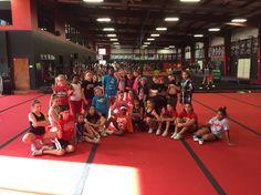 MCM themed cheer practice