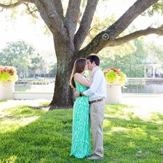 A beautiful bright summer engagement session in Orlando, Florida.