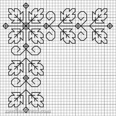 Free Blackwork Design: Autumn Leaves on a Corner here is a leafy corner, just in time for autumn (on this side of the world). Of course, if you imagine the leaves green, it could also be just in time for spring and summer!