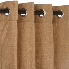 Pawleys Island Hammocks Sunbrella Outdoor Curtain with Nickle Grommets - Linen Sesame 50x108 > Length: 108 in. Color: Linen Sesame Width: 50 in. Check more at http://farmgardensuperstore.com/product/pawleys-island-hammocks-sunbrella-outdoor-curtain-with-nickle-grommets-linen-sesame-50x108/