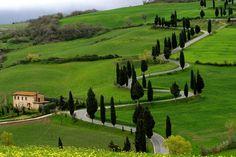 Via Chiantigiana in Tuscany - Italy (road between Florence to Sienna)