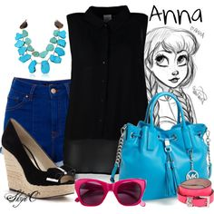 """Anna - Summer - Disney's Frozen"" by rubytyra on Polyvore"
