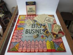 """We have a great new """"Pick of the Week"""" for board game collectors. It's a 1936 copy of the Transogram game """"Big Business"""". This game was released in 1936 so this is one… Missing Piece, Toy Collector, Board Games, Searching, Big, Business, Role Playing Board Games, Tabletop Games, Table Games"""