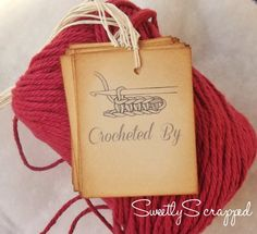 Crocheted By Tags, Labels, Gift Wrap, Packaging. $3.50, via Etsy.