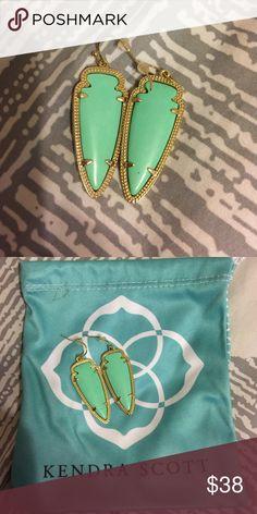 Kendra Scott earrings! Super cute KS turquoise earrings. Worn once. Comes with dust bag. Kendra Scott Jewelry Earrings