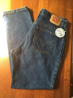 Levi's Womens Sz 12 Medium (34x31) 550 Relaxed Fit Tapered Leg VGUC 2A #Levis…