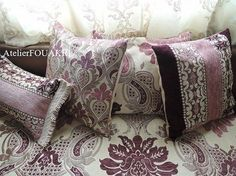 モロッコファブリック*クッションカバー*オリエンタルローズ小柄 - モロッコ雑貨とモロッコファッション|Atelier FOUKARI
