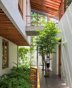 vo trong nghia extends park space into its forested residential interior - Dream Home - Architecture Modern Tropical House, Tropical House Design, Tropical Houses, Modern House Design, Tropical Architecture, Sustainable Architecture, Sustainable Design, Interior Architecture, Natural Architecture