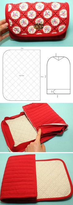 Handbag with Turn Locks. Sewing Pattern & DIY Picture Tutorial www.handmadiya.co...