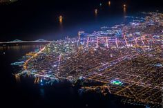San Francisco by night - Vincent Laforet  , - ,   Beautiful night ...