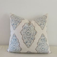Medallion Pillow Cover 18x18 20x20 Square by IndigoBlissBoutique