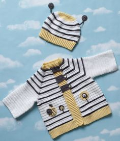 Bee Jacket and Bonnet | crochet today