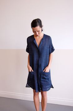 cool and refreshing: linen + navy