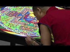 Timelapse: Tibetan Sand Mandala Demonstration - YouTube