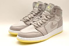 Nike - Air Jordan 1 Citron/Wolf Grey.