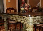 Five Chunky Legs and an Extention were added to this Antique Table. Then Olive Green Faux Aging to Bring it all together Olive Green, Entryway Tables, Legs, Antiques, Furniture, Home Decor, Antiquities, Antique, Decoration Home