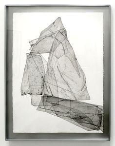 "EBEN GOFF 'batholith etchings': Aluminum plate monoprints on Rives BFK 22"" x 30"" in welded aluminum frames, 2010-2011."