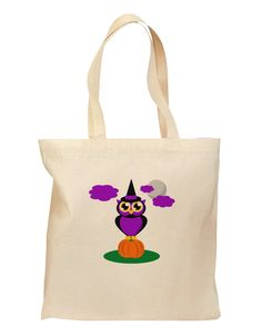 Owl Purple Grocery Tote Bag