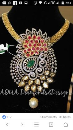 Pendant Set, Diamond Pendant, Diamond Jewellery, Gold Jewelry, Photo Jewelry, Fashion Jewelry, Diamond Tops, Gold Designs, Jewellery Designs